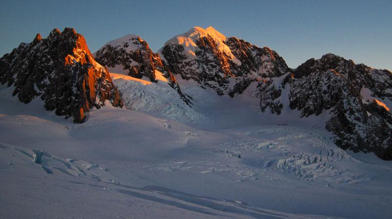 Climb Mt Tasman At Sunrise