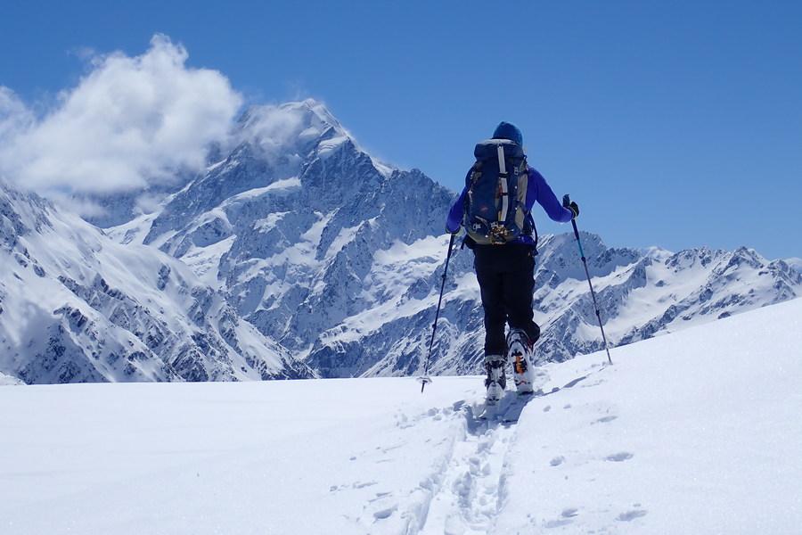 Ski touring near Mueller