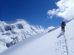 Ski Touring, With Mount Sefton In View